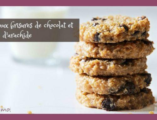 Biscuits aux brisures de chocolat et au beurre d'arachide