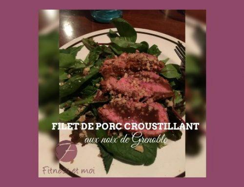 Filet de porc croustillant aux noix de Grenoble