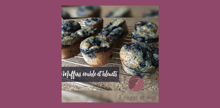 Muffins érable et bleuets