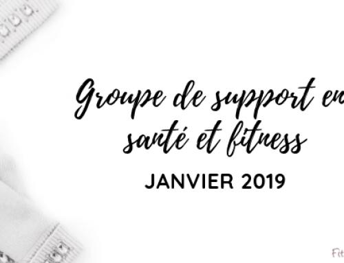 Groupe de support en santé et fitness (janvier 2019)