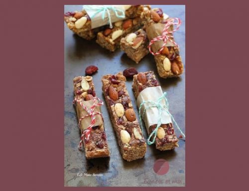 Barres tendres au granola avec amandes et canneberges – sans cuisson