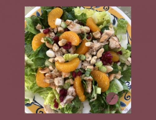 Salade fruitée au poulet