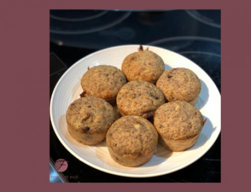 Muffins déjeuner canneberges et banane
